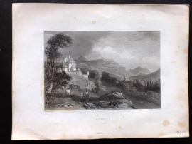 Brockedon Waldenses 1838 Antique Print. St. Joire, Savoy, Switzerland